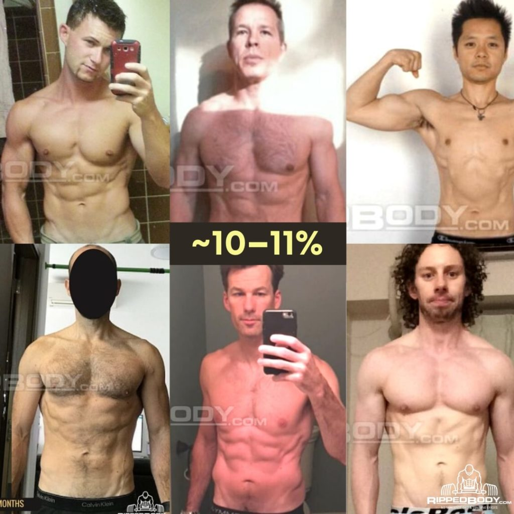 Ripped Body 10% body fat level (Client examples 1)