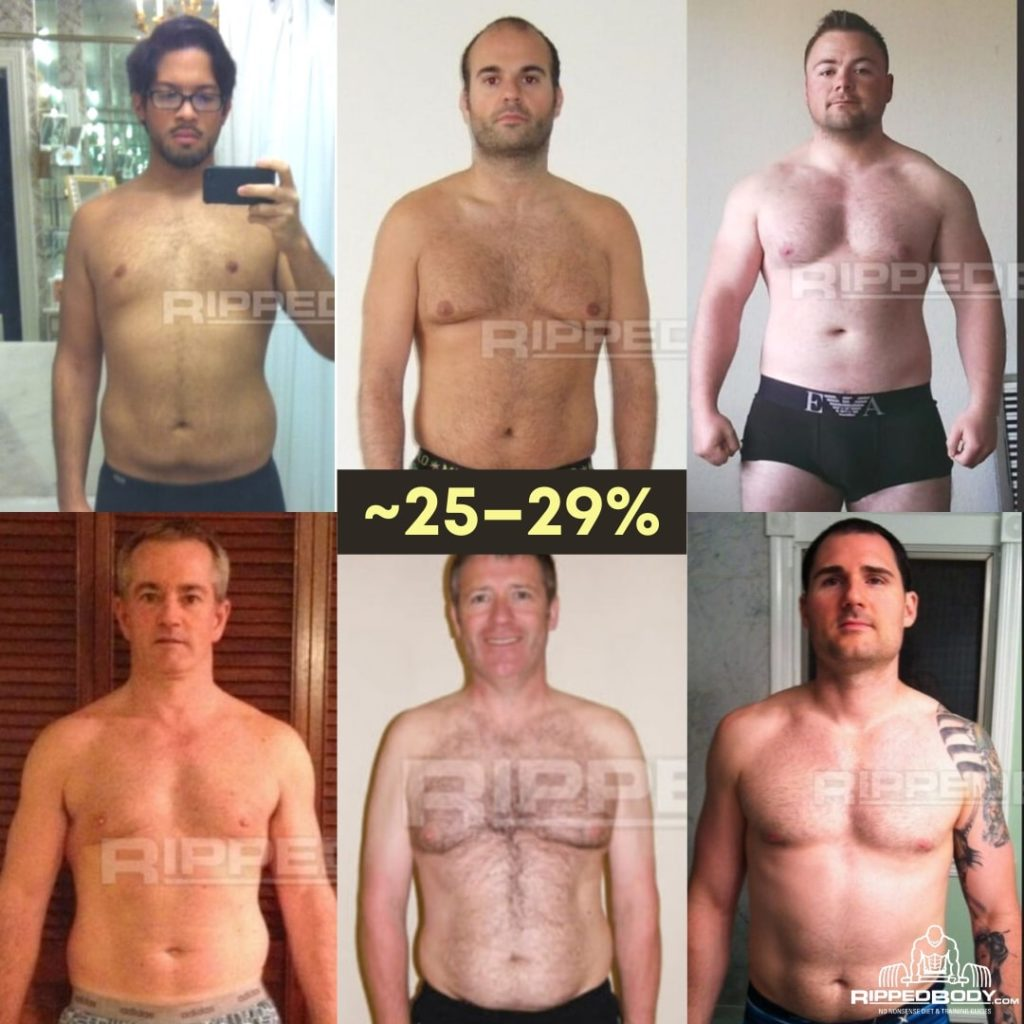 What 25-29% body fat looks like