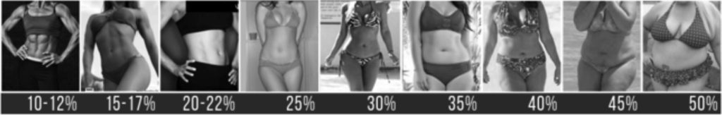 Body-fat Percentage Pictures — Women
