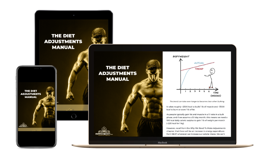 The Diet Adjustments Manual, by Andy Morgan - Device Display