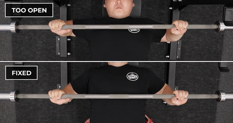 Fixing bench press bar path - keep your elbows tucked