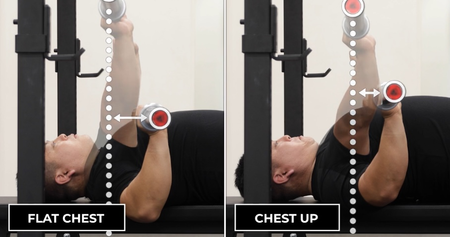 Fixing the bench press bar path by correcting a flat chest.