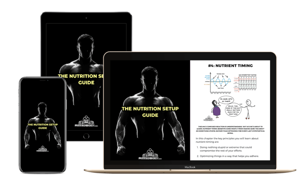 The RippedBody Nutrition Setup Guide - Device Display